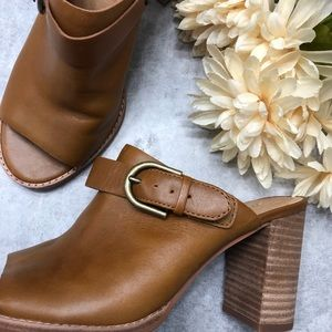Madewell The Riley Saddle Leather Slingback Mules